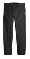 Black - Men's Industrial Flat Front Comfort Waist Pant - Front