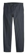 Dark Charcoal - Men's Industrial Flat Front Comfort Waist Pant - Front