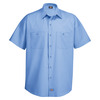 Light Blue - Men's Industrial WorkTech Ventilated Short-Sleeve Work Shirt With Cooling Mesh - Front