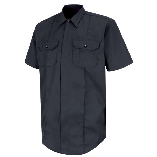 Product Shot - New Dimension® Concealed Button Front Short Sleeve Shirt