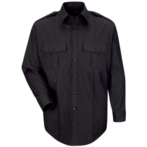 Product Shot - New Dimension® Plus Long Sleeve Poplin Shirt