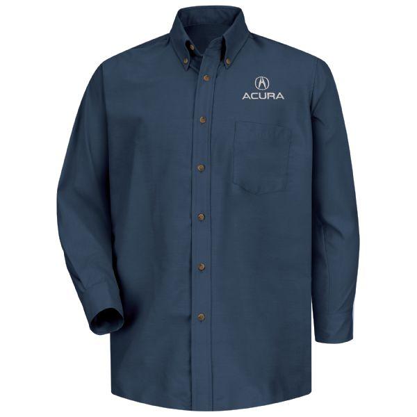 Acura® Men's Long Sleeve Poplin Dress Shirt
