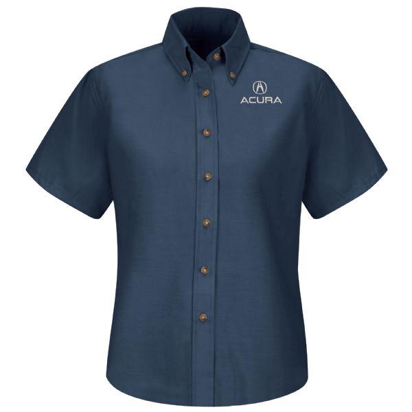 Acura® Women's Short Sleeve Poplin Dress Shirt
