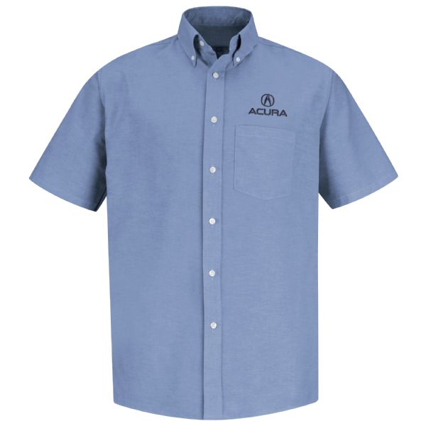 Acura® Men's Short Sleeve Executive Oxford Dress Shirt