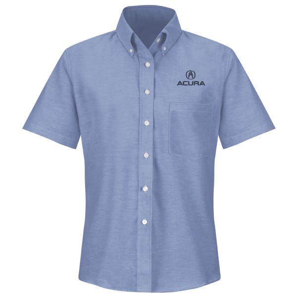 Acura® Women's Short Sleeve Executive Oxford Dress Shirt
