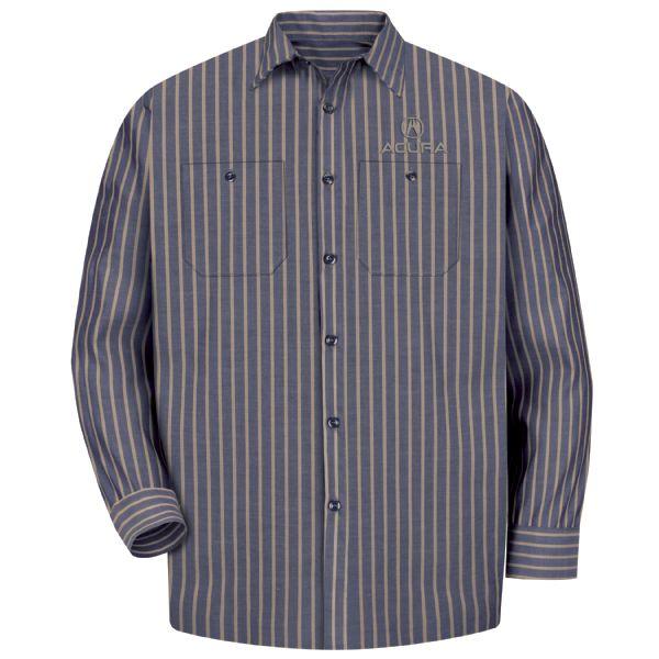 Acura® Men'sLong Sleeve Industrial Work Shirt