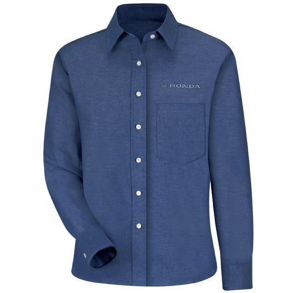 Honda® Women's Long Sleeve Oxford Dress Shirt