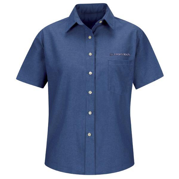 Honda® Women's Short Sleeve Oxford Dress Shirt