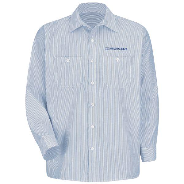 Honda® Men's Long Sleeve Industrial Stripe Work Shirt
