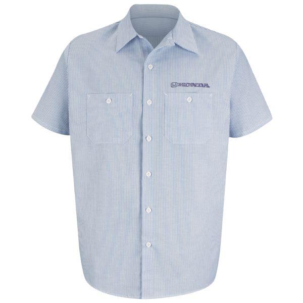 Honda® Men's Short Sleeve Industrial Stripe Work Shirt