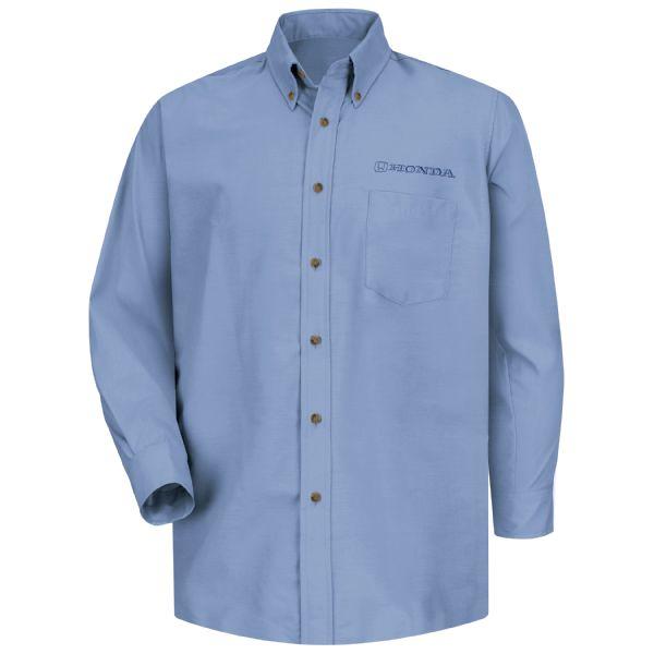 Honda® Men's Long Sleeve Poplin Dress Shirt