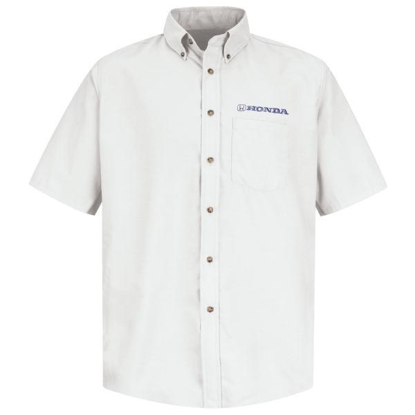 Honda® Men's Short Sleeve Poplin Dress Shirt