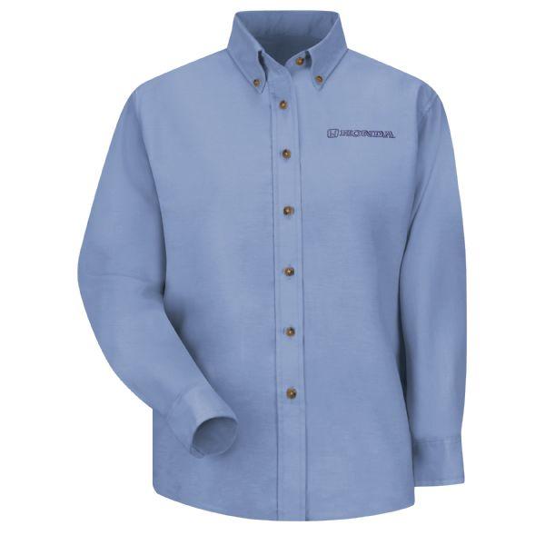 Honda® Women's Long Sleeve Poplin Dress Shirt