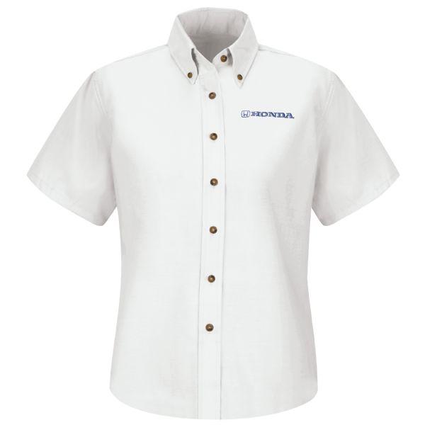 Honda® Women's Short Sleeve Poplin Dress Shirt