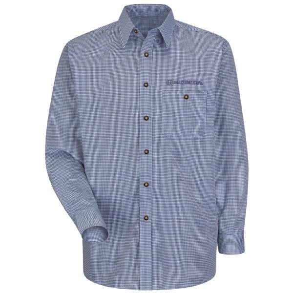 Honda® Men's Long Sleeve Mini-Plaid Uniform Shirt