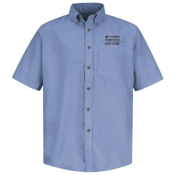 Hyundai® Assurance Car Care Men's Short Sleeve Poplin Dress Shirt