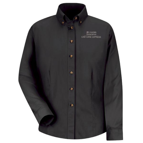 Hyundai® Assurance Car Care Express Women's Long Sleeve Meridian Performance Twill Shirt