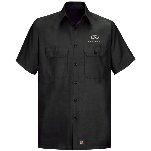 Infiniti® Men's Short Sleeve Solid Ripstop Shirt