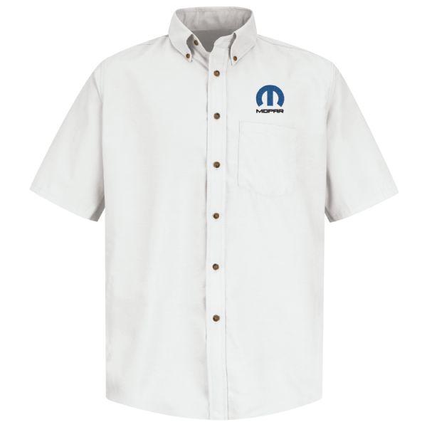 Mopar® Men'sShort Sleeve Poplin Dress Shirt