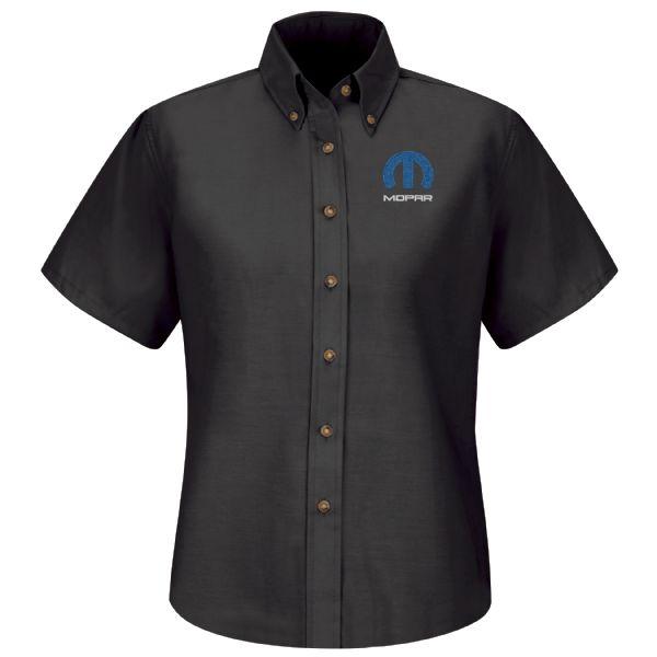 Mopar® Women'sShort Sleeve Poplin Dress Shirt