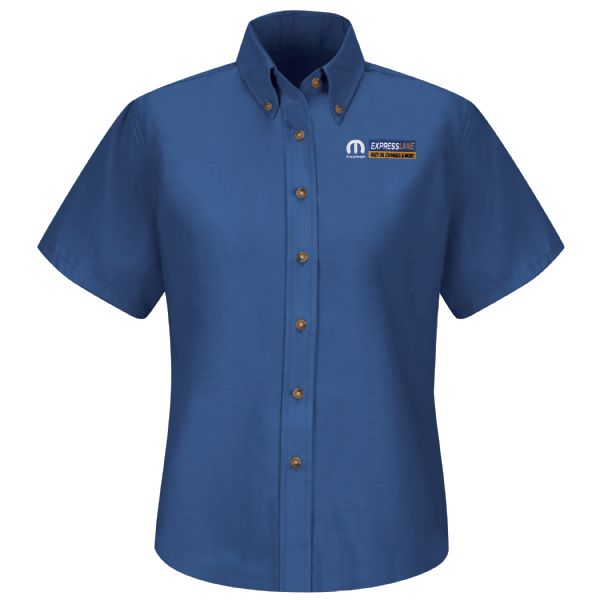 Mopar® Express Lane Women's Short Sleeve Poplin Dress Shirt