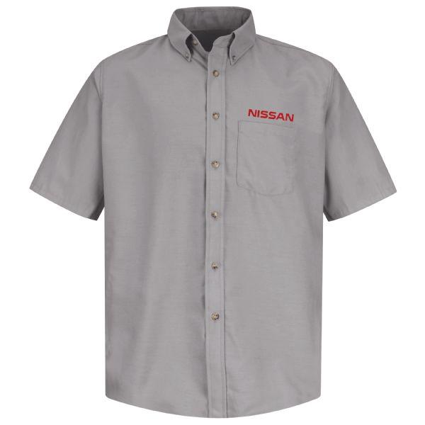 Nissan® Men's Short Sleeve Poplin Dress Shirt
