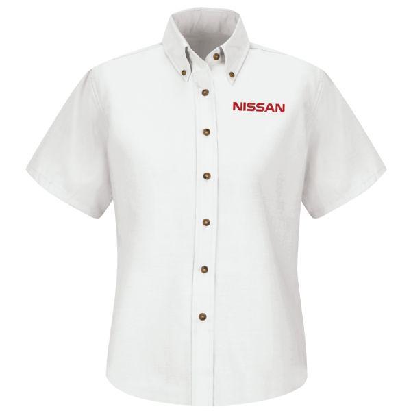 Nissan® Women's Short Sleeve Poplin Dress Shirt