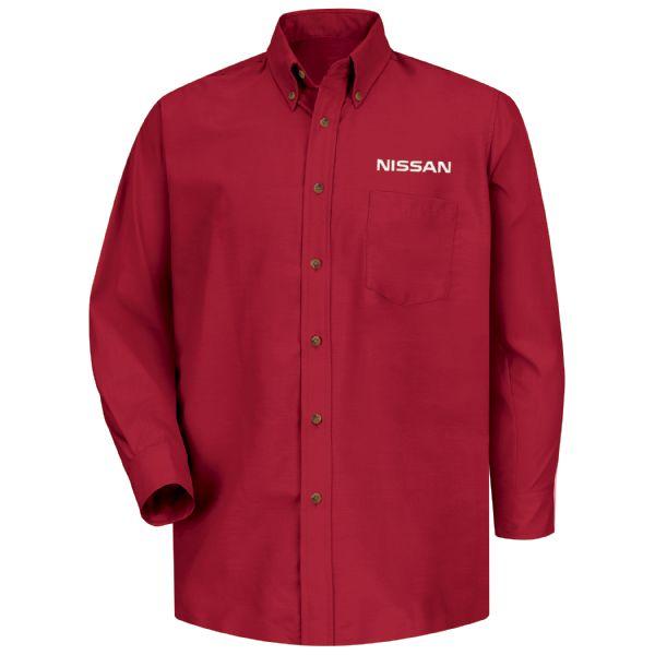 Nissan® Men's Long Sleeve Poplin Dress Shirt