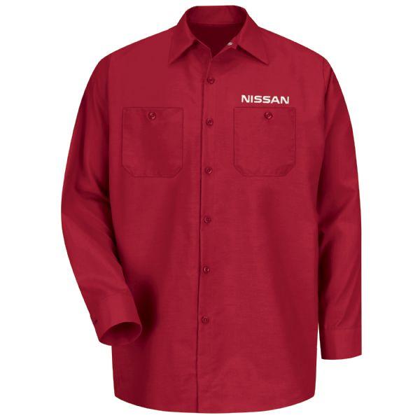 Nissan® Men's Long Sleeve Industrial Work Shirt