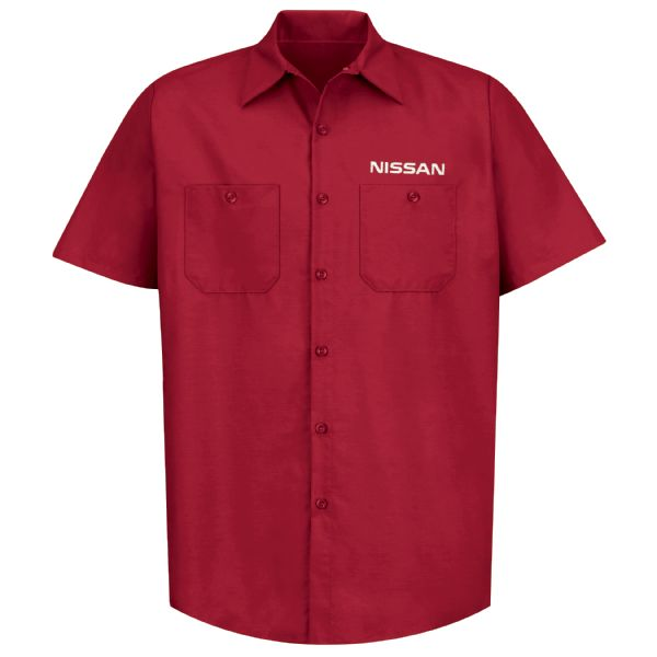 Nissan® Men's Short Sleeve Industrial Work Shirt