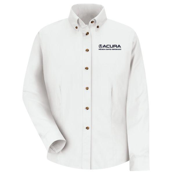 Acura® Precision Women's Long Sleeve Meridian Performance Twill Shirt