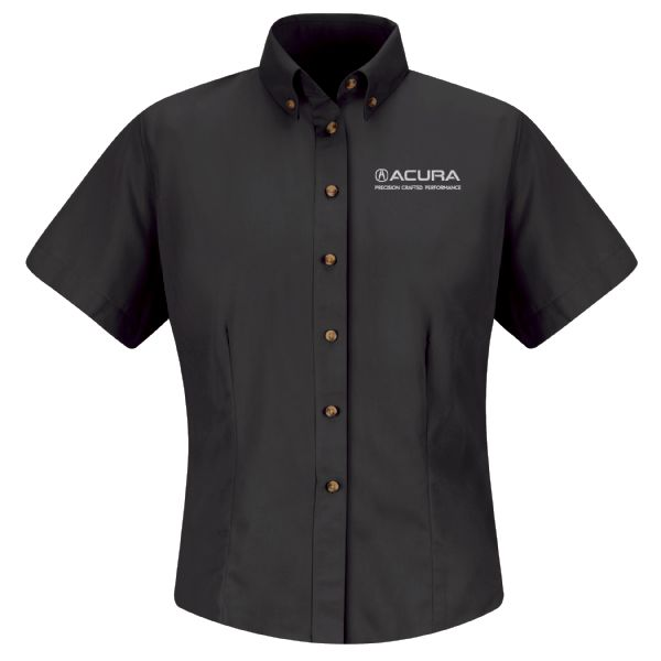 Acura® Precision Women's Short Sleeve Meridian Performance Twill Shirt