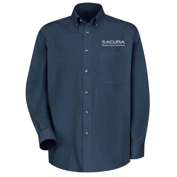 Acura® Precision Men's Long Sleeve Meridian Performance Twill Shirt