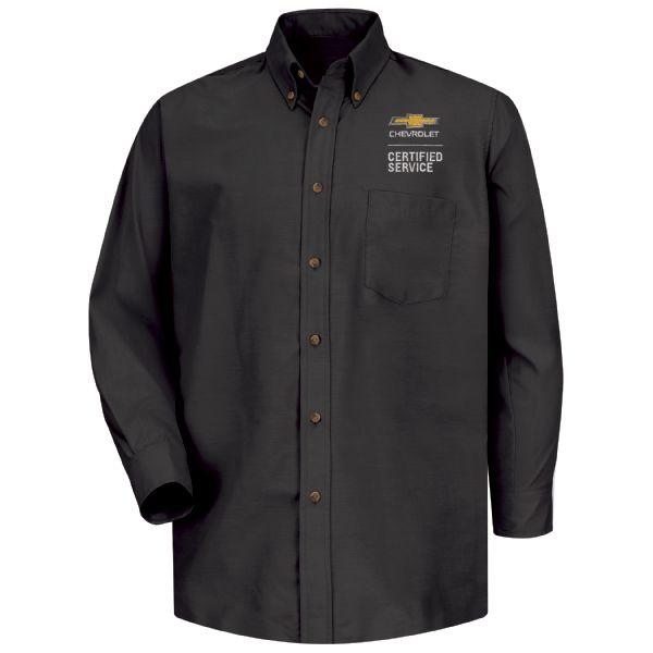 Chevrolet Men's Long Sleeve Poplin Dress Shirt