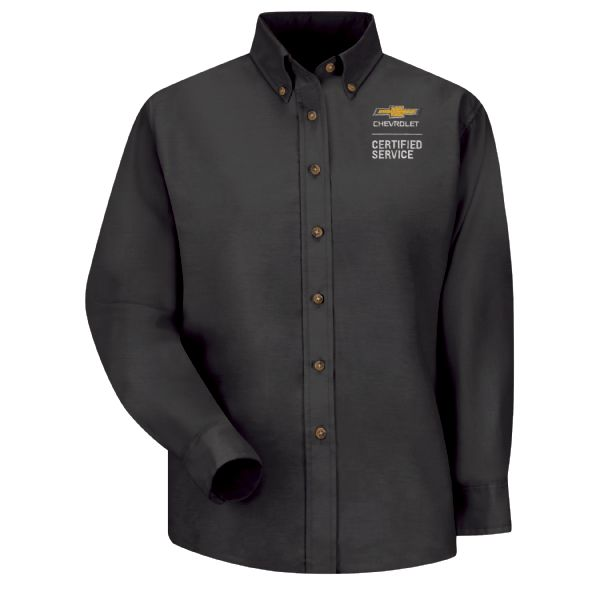 Chevrolet Women's Long Sleeve Poplin Dress Shirt