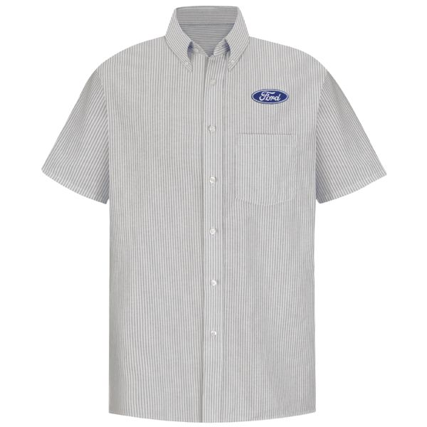 Ford® Men's Short Sleeve Executive Oxford Dress Shirt