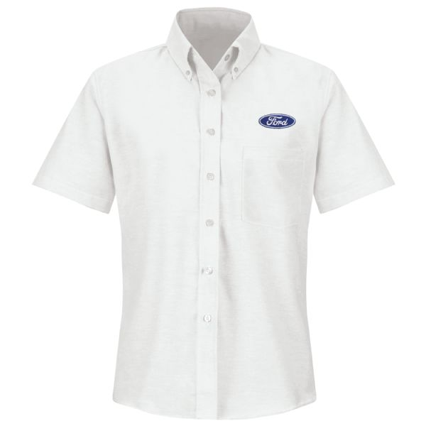 Ford® Women's Short Sleeve Executive Oxford Dress Shirt