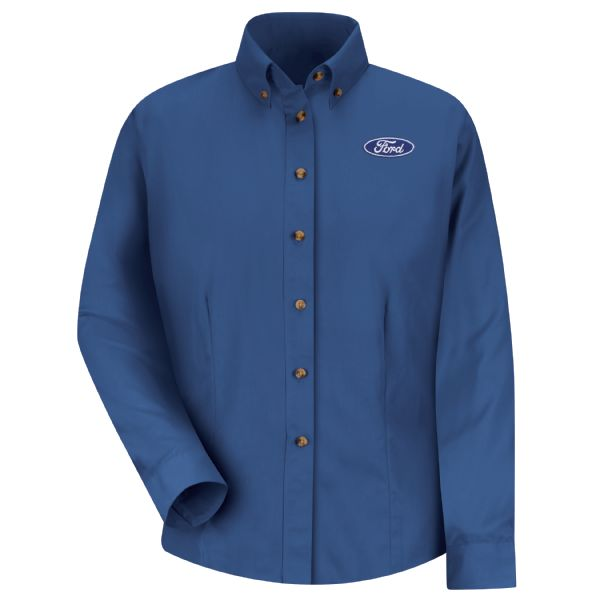 Ford® Women's Long Sleeve Meridian Performance Twill Shirt