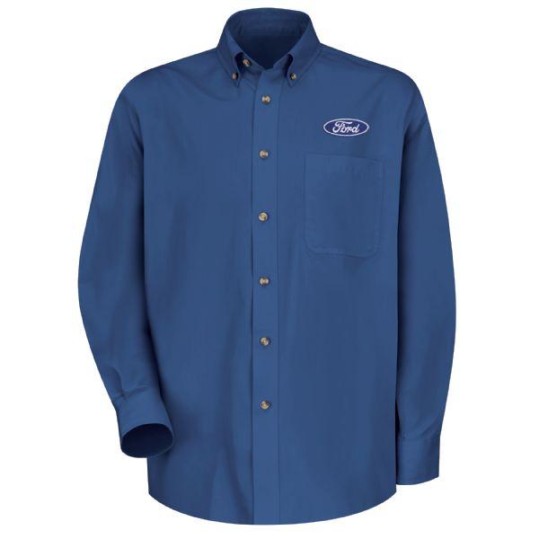 Ford® Men's Long Sleeve Meridian Performance Twill Shirt