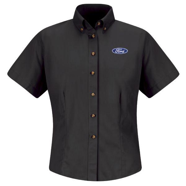 Ford® Women's Short Sleeve Meridian Performance Twill Shirt