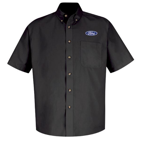 Ford® Men's Short Sleeve Meridian Performance Twill Shirt