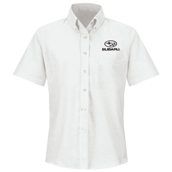 Subaru® Women's Short Sleeve Executive Oxford Dress Shirt