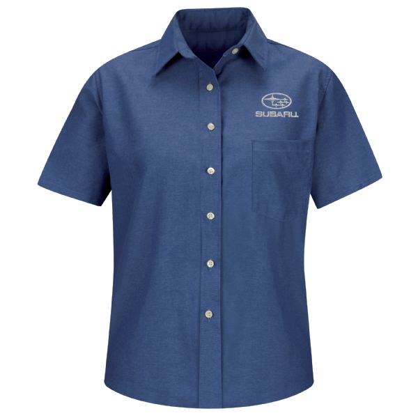 Subaru® Women's Short Sleeve Oxford Dress Shirt