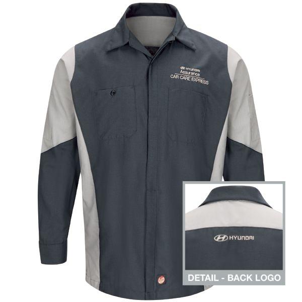 Hyundai® Assurance Car Care Express Long Sleeve Technician Shirt