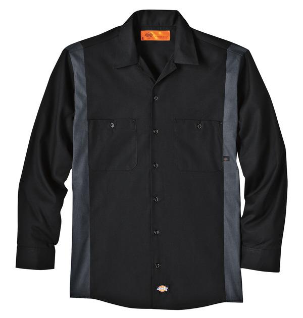 Product Shot - Men's Industrial Color Block Long-Sleeve Shirt