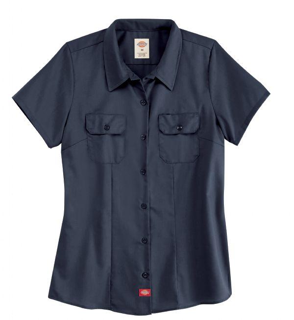 Product Shot - Women's Short-Sleeve Traditional Work Shirt
