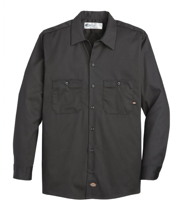 Product Shot - Men's Industrial Cotton Long-Sleeve Work Shirt