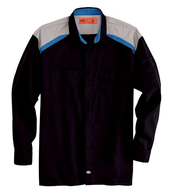 Product Shot - Men's Tricolor Long-Sleeve Shop Shirt