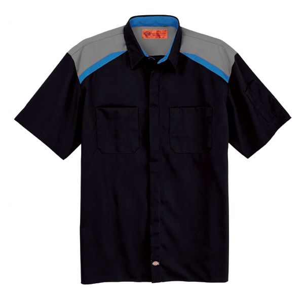 Product Shot - Men's Tricolor Short-Sleeve Shop Shirt